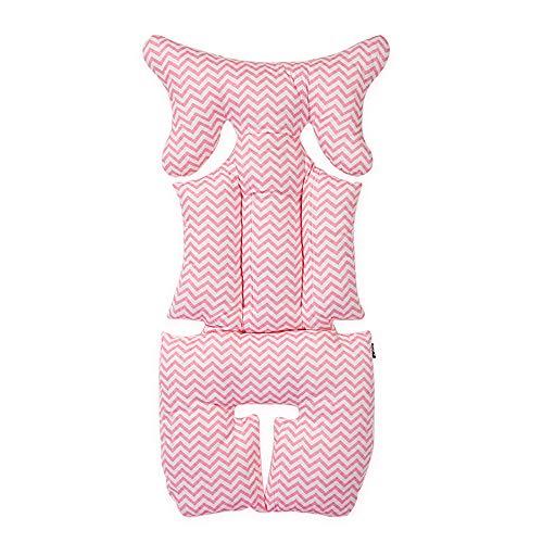 Cojín para cochecito de bebé, grueso algodón, cálido, mate, para niños, asiento suave b