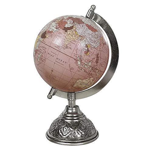 zeitzone Globus Rosa Weltkugel mit Metallständer Standglobus Erde Atlas Ø 13cm