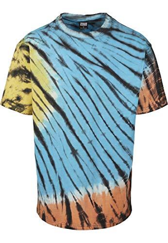 Urban Classics T-Shirt Black Tie Dye Oversized tee Camiseta, Negro, XXXXXL para Hombre