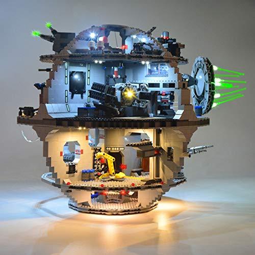 POXL - Juego de luces LED para Lego Death Star 75159 (funciona con USB, no incluye el modelo)