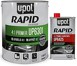 U-Pol 6301 Rapid System Primer Unique New Rapid Cure Technology Primer 1 Liter Kit /W Hardener