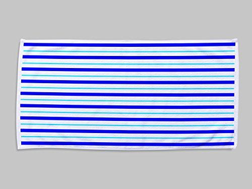 Toalla Rayas | 50 x 100 cm | Toalla Fabricada en Tejido Impresa a Todo Color 1 Cara