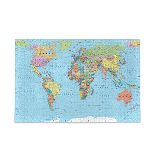500 Piece Jigsaw Puzzles World Map Toy Games Educational Gift Home Decor for Adults Kids 2040021