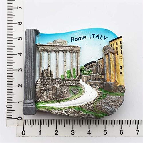 YSVSPRF Imanes de Nevera Pegatinas Imanes de Nevera Recuerdos turísticos Refrigerador magnético Pegatinas Regalo (Color : Rome Italy)