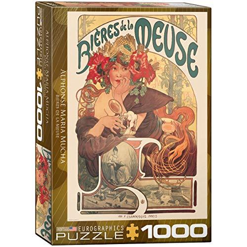 """Eurographics Puzzle """"Bières de la Meuse von Alphonse Maria Mucha"""" (1000Stück)"""