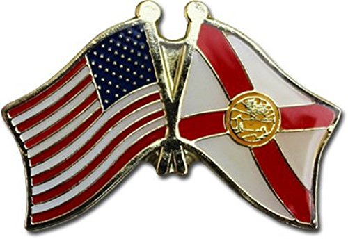 Wholesale Pack of 3 USA American State Florida Flag Bike Hat Cap lapel Pin