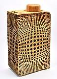 Azucarero madera (Roble '3D-4 páginas') con dosificación 1 cucharadita 200 ml 60 porciones dispensador agitador dosificador tarro azúcar moreno de cana coco bio eco