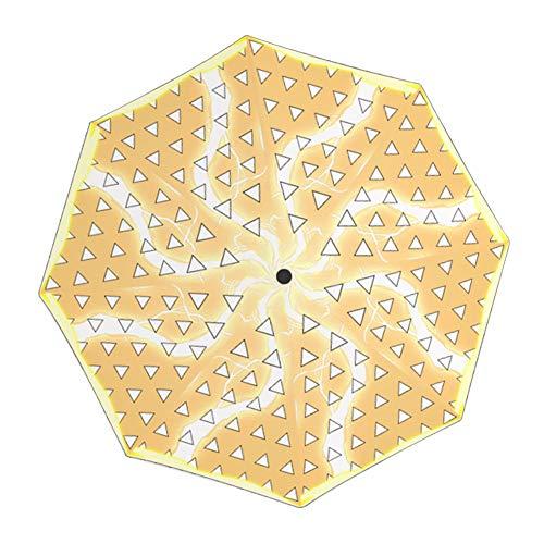 SosoJustgo2 Anime Demon Slayer Travel Compact Umbrella –Small Lightweight Folding Sun Umbrella with 95% UV Protection for Men & Women(#05)
