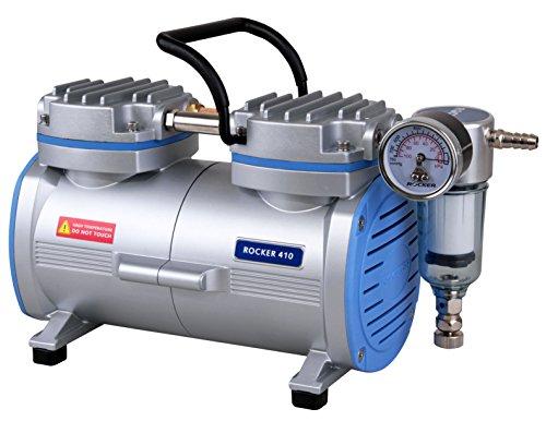 Vakuumpumpe / Laborpumpe Rocker 410: 25mbar (-735mmHg) 20 l/min, schmiermittel- und ölfrei, für (Vakuum-) Filtration, Luftproben oder Schwebestofftests