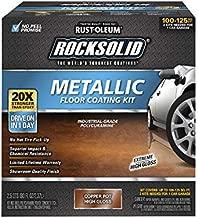 Rust-Oleum 286894 Rocksolid Metallic Garage Floor Coating, 70 fl oz, Copper Pot, 70 Fl. Oz