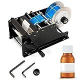 OUKANING Etikettendrucker Handgerät MT-30 Manuelle Etikettiermaschine Runde Flasche