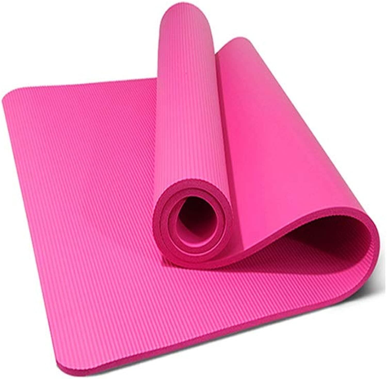 Exercise Fitness Yoga Mats H.ZHOU Nonslip Double Yoga Mat Backpack Carry Lace Environmental Predection 10mm Tasteless Moisture Proof Durable Light Motion Fitness 130cm Wide for Pilates SitUps Stretc