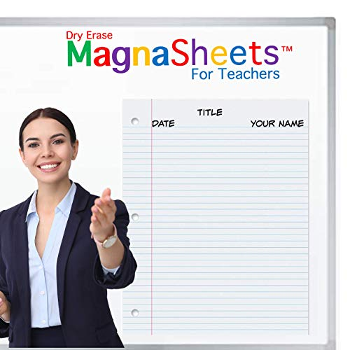 """MagnaSheets Magnetic Notebook Paper 22""""W x 28""""H 