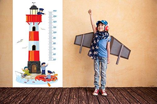 Vinilo Decorativo Pared Medidor Faro | Varias Medidas 84x144cm | Adhesivo Resistente y de Fácil Aplicación | Multicolor | Pegatina Adhesiva Decorativa de Diseño Elegante