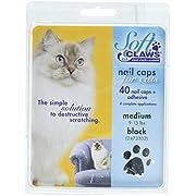 SOFTCLAWS Krallenschutzes für Katzen - Medium - Schwarz