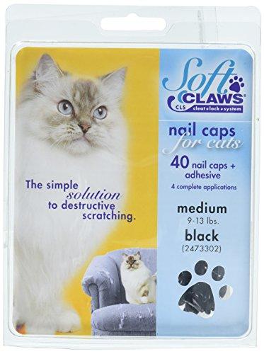 SOFTCLAWS® Krallenschutzes für Katzen - Medium - Schwarz