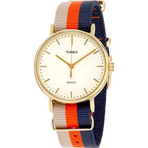 Timex Unisex Weekender Fairfax Orange Brown Strap TW2P91600
