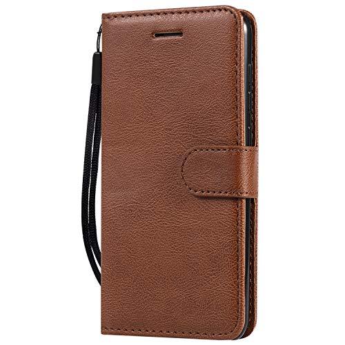 Hülle für Xiaomi Mi 9SE Hülle Handyhülle [Standfunktion] [Kartenfach] Tasche Flip Hülle Cover Etui Schutzhülle lederhülle flip case für Xiaomi Mi 9 SE - DEKT051829 Braun