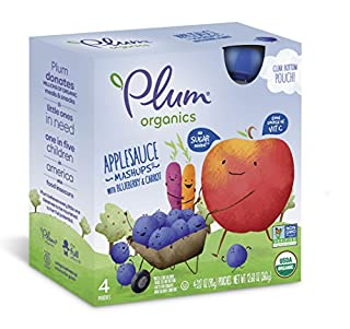 Plum Organics Mashups, Organic Kids Applesauce, Blueberry & Carrot, 3.17 Ounce Pouch, 4 Count (Pack of 6) (B00886PPFS)   Amazon price tracker / tracking, Amazon price history charts, Amazon price watches, Amazon price drop alerts