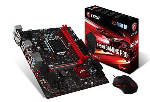 MSI Gaming Intel B250 LGA 1151 DDR4 HDMI micro-ATX Motherboard Including DS B1 Gaming Mouse...