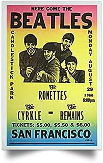 Candlestick Park Concert Poster Beatles Lovers Gift