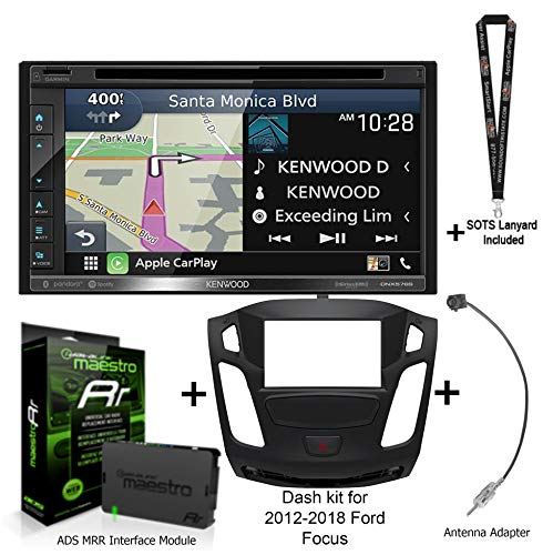 For Sale! Kenwood DNX576S Navigation Receiver + KIT-FOC1 Package for Ford Focus + ADS-MRR with Sound...
