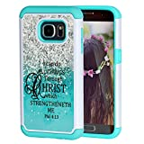 Galaxy S7 Case,S7 Case Christian Quotes,SKYFREE Bible Verse Philippians 4:13 [Shockproof] Hybrid Dual Layer Silicone Plastic Armor Defender Protective Case Cover for Samsung Galaxy S7 (2016)