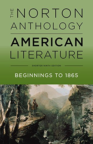 The Norton Anthology of American Literature (Shorter Ninth Edition)  (Vol. Volume 1)
