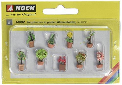 NOCH 14082 - Zierpflanzen in Blumenkübeln