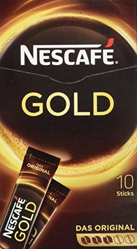 Nescafé Gold Original, Löslicher Kaffee, Faltschachtel mit 10 x 2g Sticks (5er Pack)
