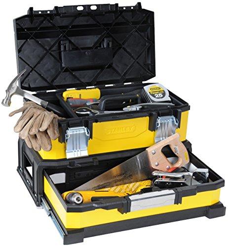 """Stanley 20\"""" Werkzeugbox Metall-Kunststoff mit integrierter Schublade - 1-95-829 - ohne Werkzeug"""