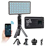 Portable RGB LED Video Light,360°Full Color Camera Studio Light APP Control with Holder 29 Lighting Effects 2500K-8500K Dimmable Rechargable Light Panel for Camera Photography YouTube Studio Vlog