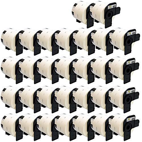 Yellow Yeti 30x DK-11209 29 x 62mm Adress-Etiketten kompatibel für Brother P-Touch QL-500 QL-570 QL-700 QL-710W QL-720NW QL-800 QL-810W QL-820NWB QL-1050 QL-1060N QL-1100 QL-1110NWB | 800 Stück/Rolle