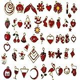 50 abalorios esmaltados para hacer joyas, para manualidades, collares, pulseras, etc., aleación,