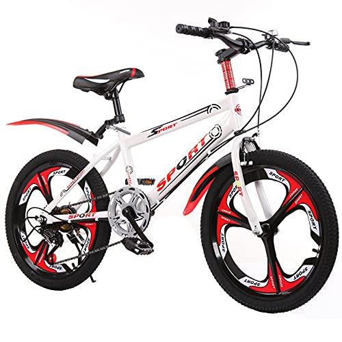 DREAMyun Bicicletas Infantiles niña niño 6-17 años Freestyle BMX 18 20 22 24 Pulgadas Montaña Bicicleta para niños,Rojo,18'