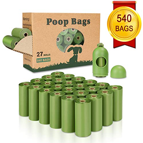 Yingdelai Dog Poop Bag(540 Counts), Biodegradable Dog Waste Bags with 1 Dispenser, eco-Friendly...