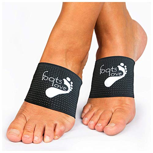 Foots Love- 2 Plantar Fasciitis Compression Arch Support Sleeves Insoles. The Original Copper Nano Sock Inserts. Add Our Arch Pads for a Stop Pain 1-2 Punch. Cut Healing time in Half ! Guaranteed