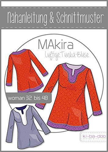 Schnittmuster kibadoo luftige Tunika-Bluse MAkira Papierschnittmuster