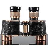 J-Love Binoculares 8X24 HD Telescopio Fullmetal Binocular con Bolsa Cuero Visión Nocturna