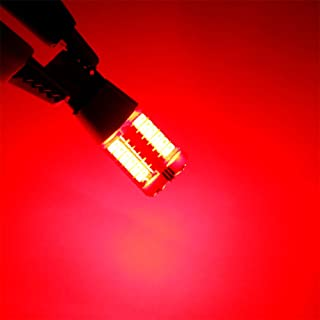 Elaco Led T10 Super Bright W5w 57smd Parking Lamps 12 V Lights Bulb (Red)