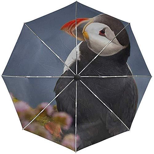 Paraguas automático Impasse Pico de pájaro Colorido Viaje Conveniente A Prueba de Viento Impermeable Plegable Automático Abrir Cerrar