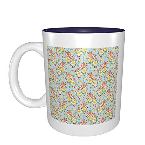 Tela de acuarela rosa mejor idea regalo de cumpleaños para tazas de porcelana