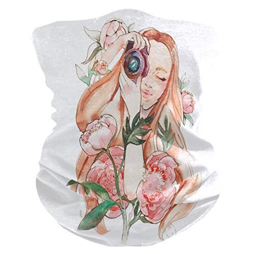 TropicalLife - Pañuelo para mujer con cámara en peonía, diseño de flores