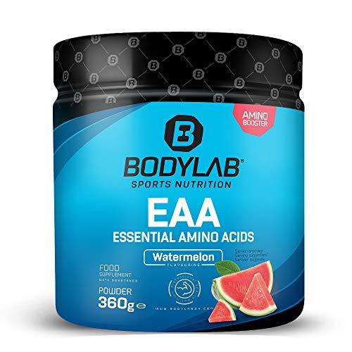 Bodylab24 EAA Essential Amino Acids 360g | 8 Essentielle Aminosäuren hochdosiert | Regeneration und Muskelaufbau | Plus Vitamin B6 | Watermelon