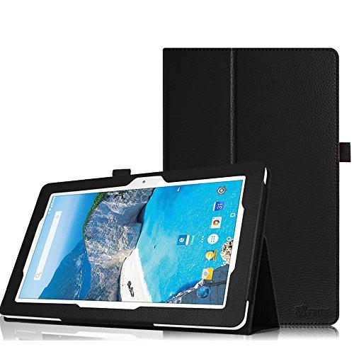 Fintie Hülle Case für Odys Ieos Quad 10 Pro X610120 - Slim Fit Folio Premium Kunstleder Schutzhülle Tasche Etui Cover mit Ständerfunktion für Odys Ieos Quad 10 Pro 25,7 cm (10,1 Zoll) Tablet-PC, Schwarz