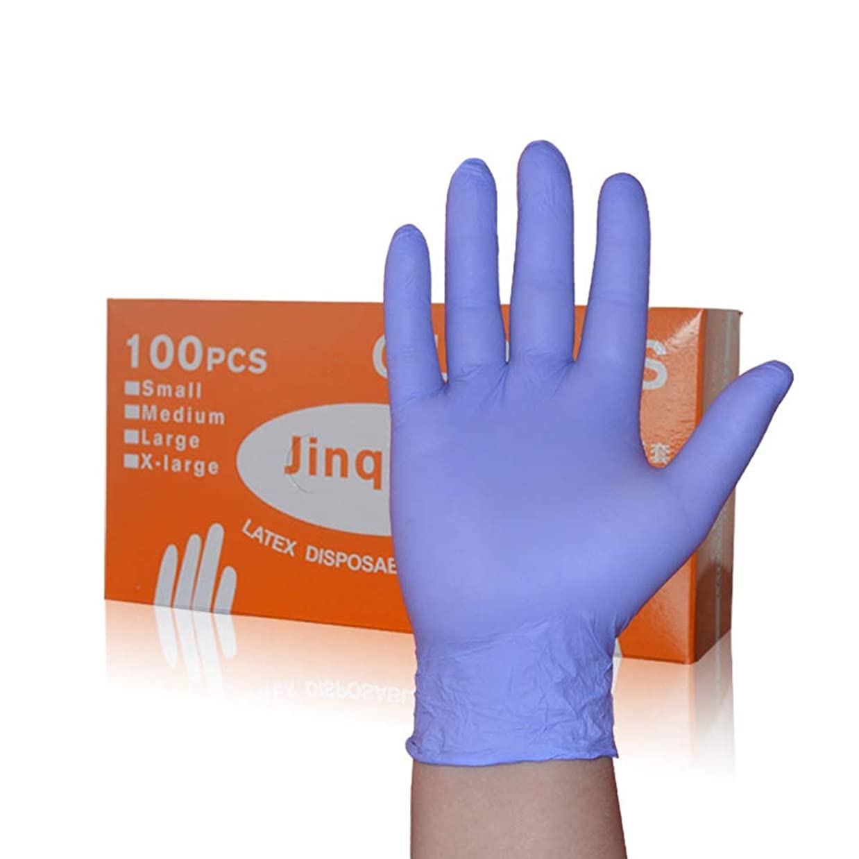 ダメージ暴行サッカー箱入りA級Dingqing使い捨て手袋食品キッチンケータリング家事歯科手袋 YANW (色 : 紫の, サイズ さいず : L l)
