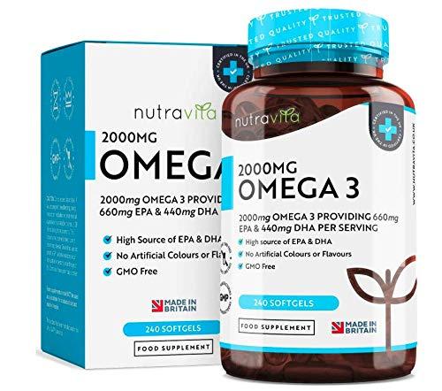 Omega 3 (2000mg) - 660 mg EPA e 440 mg DHA - Capsule di...