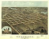 INFINITE PHOTOGRAPHS 1868 map of Tecumseh, Michigan Tecumseh, Lenawee Co, Michigan 1868. Drawn by A.
