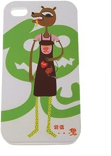 غطاء خلفي واقٍ بلاستيكي ناعم لطيف لهاتف iPhone 4 / 4S