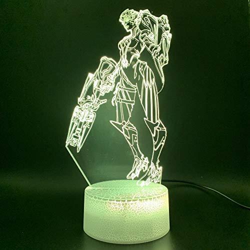 Spiel Overwatch Hero Widowmaker Figur Büro Deko Nachtlicht 3D LED USB Tischlampe Kinder Geburtstagsgeschenk Nachtzimmer Dekoration